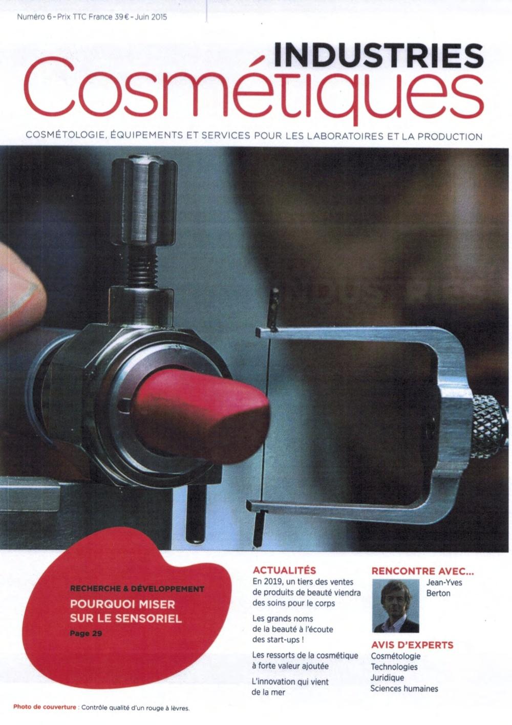 Cosmétique: Le Sensoriel un vecteur d'Innovation