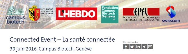 La santé connectée évènement au campusbiotech à Genève
